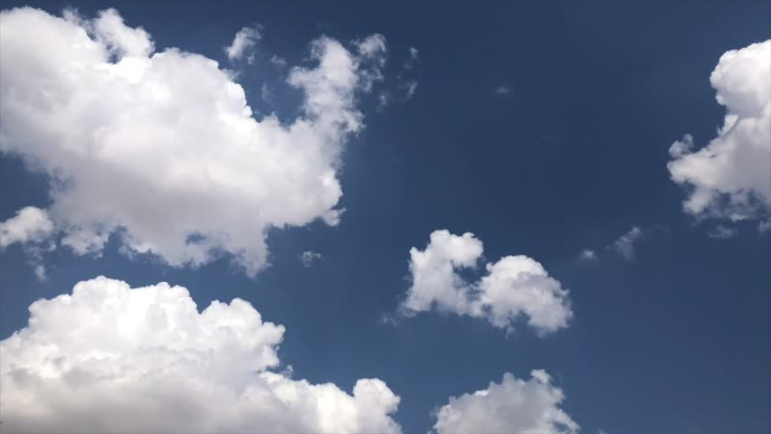Blue sky white amazing clouds 4k background time lapse Beautiful weather cloudy heaven Beauty 4k bright color light 4k summer nature Abstract fluffy puffy cloudscape time lapse High sunny cumulus 4k