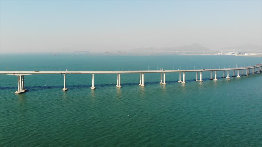 Hong Kong–Zhuhai–Macau Bridge | Shutterstock HD Video #1018731763