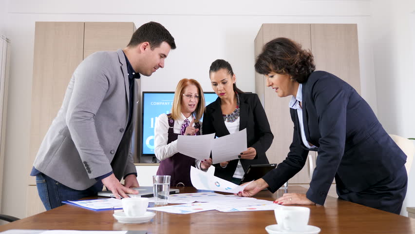 Business People Brainstorming New Ideas Stock Footage Video 100 Royalty Free 1018740703 Shutterstock