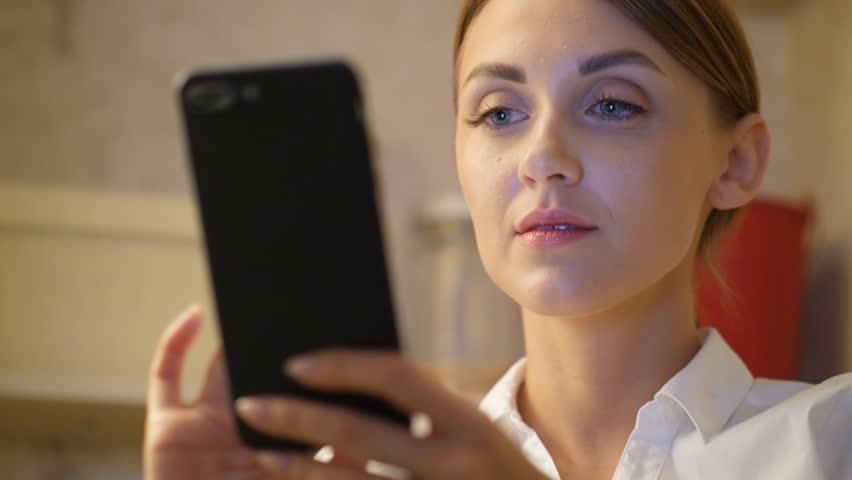 Young girl facial video free