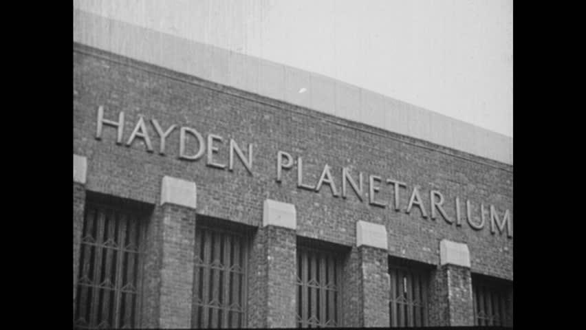 1950s: United States: Hayden Planetarium Stock Footage Video (100%  Royalty-free) 1018787443 | Shutterstock
