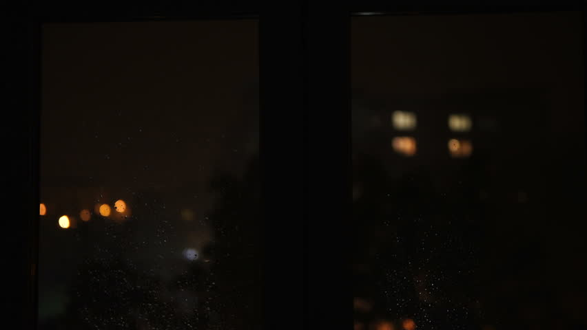 Outbreaks of lightning outside the window. The rumble of thunder at night. Hurricane on the street. When the lightning woke up. | Shutterstock HD Video #1018868353