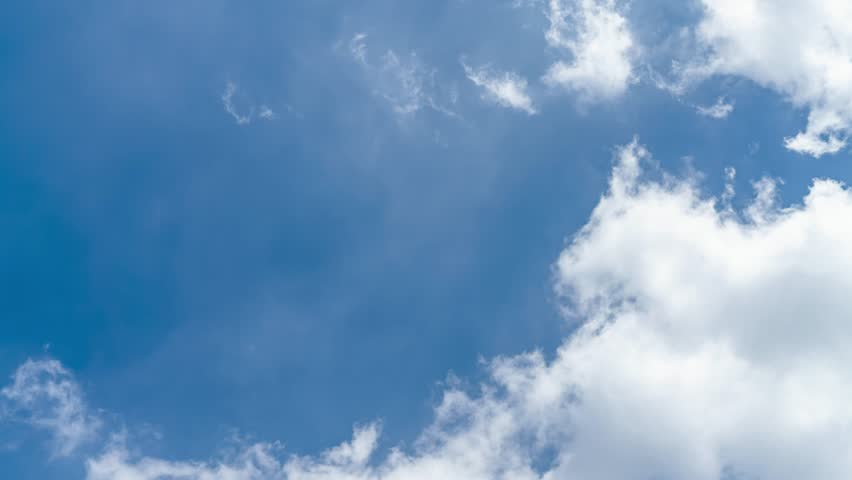 blue sky and white cloud motion background, Time-lapse #1019003023