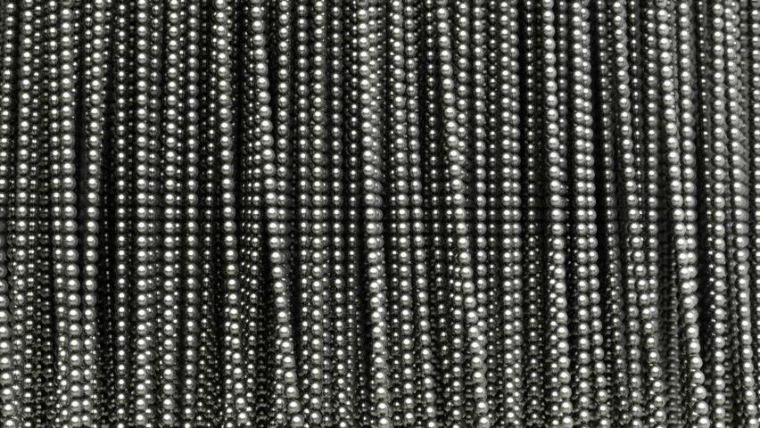 Abstract Metal Curtain, Ball Chain.