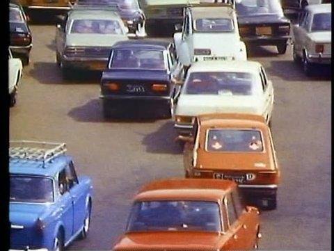 CAIRO, EGYPT, 1977, Traffic close up, Tahrir Square