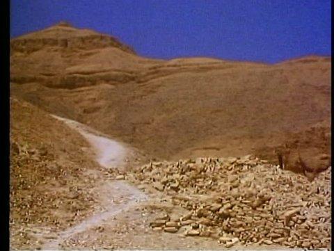 LUXOR, EGYPT, 1977, Valley of the Kings, entrance to Tomb of King Tutankhamen