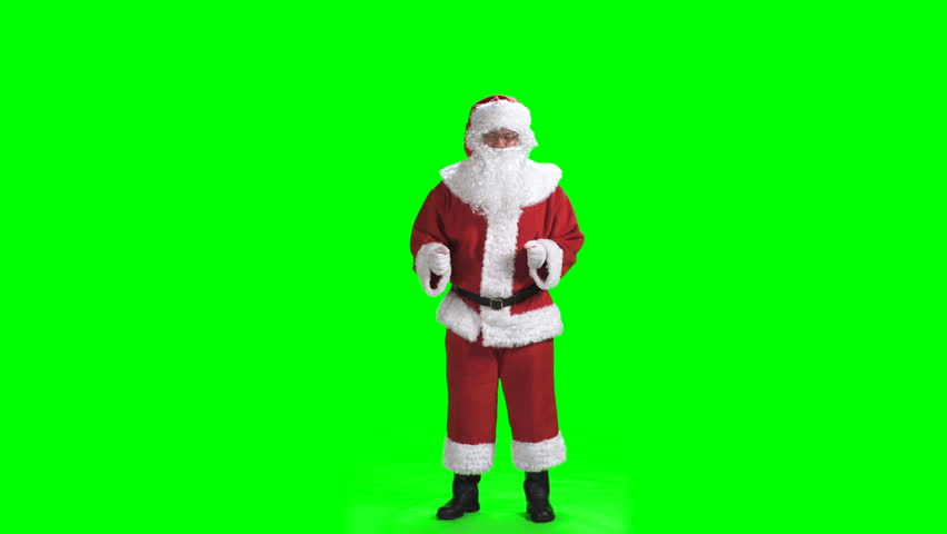Merry Christmas. Dancing Santa Claus in full growth in a red suit isolated on a green screen background chromakey | Shutterstock HD Video #1019213533