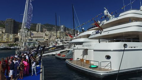Monaco, Monte Carlo - September 28th 2018. The 2018 Monaco Yacht Show continues to be the largest luxury yacht show in the world, attracting thousands of visitors worldwide.