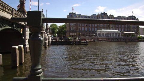 Amsterdam, Noord-Holland / The Netherlands. July 13, 2018: The Amstel Hotel next to the river Amstel | Highlights of Amsterdam