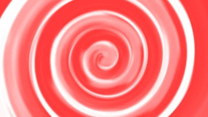 Bright red soft spiral swirl rotating in a spinning twirl twist with a seamless repeating loop.  Colorful CGI high definition motion background video clip