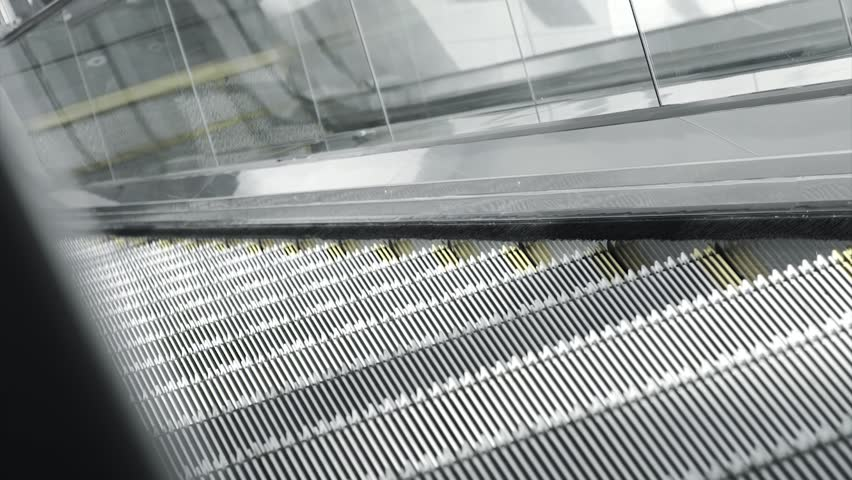 Close up Escalators will be Stop for Save Energy  | Shutterstock HD Video #1019874013