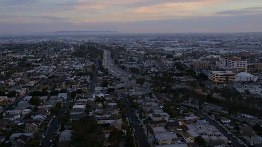 Aerial of Downtown Los Angeles  | Shutterstock HD Video #1020237253