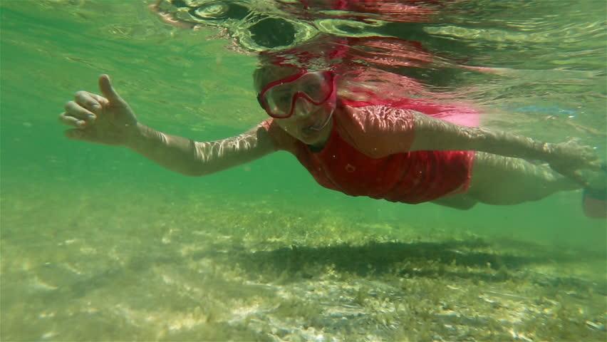 Female Apnea Bikini Swims in Stock Footage Video (100% Royalty-free)  1020254443 | Shutterstock
