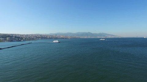 Ferry services in izmir, sea views