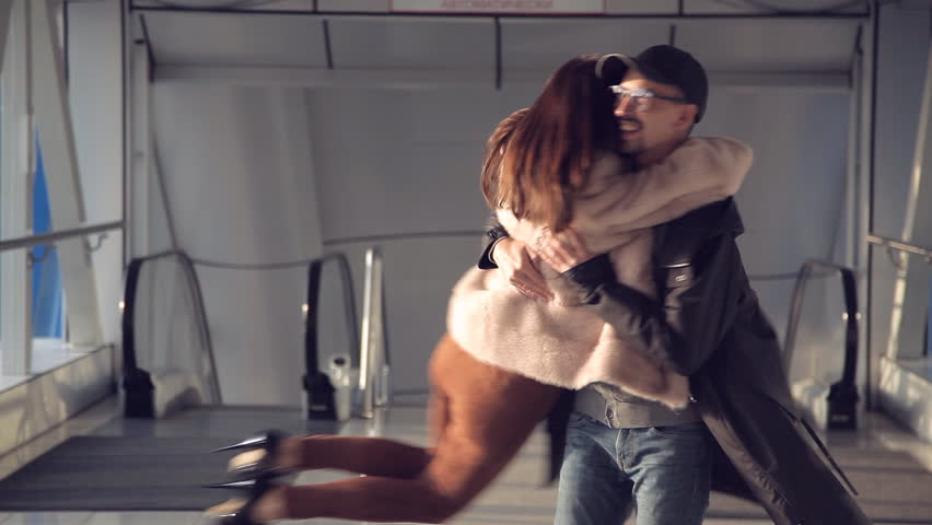 The couple met in the airport | Shutterstock HD Video #1020432223