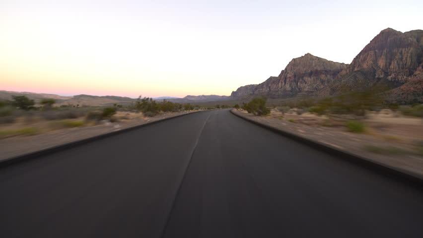 Hyperlapse Driving Winding Desert Highway Nevada | Shutterstock HD Video #1020465733