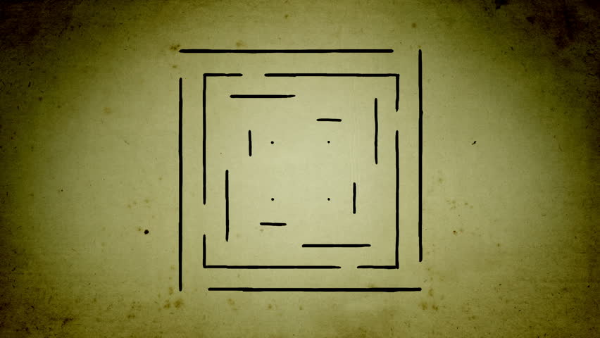 Mystical square lines drawing animation | Shutterstock HD Video #1020667123