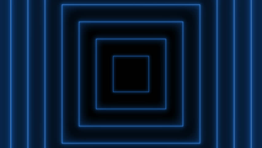 Abstract background with neon blue square - Seamless loop | Shutterstock HD Video #1020672673
