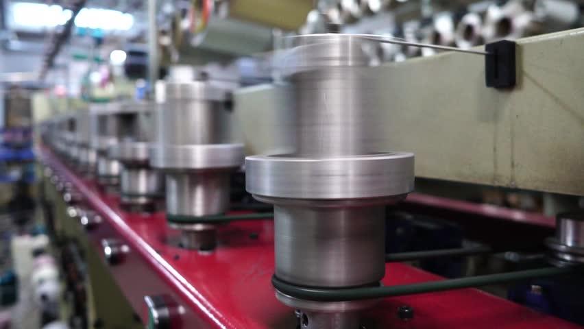Winding reel in factory    Shutterstock HD Video #1020704413