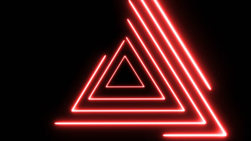 Abstract background, looped animation, Abstract background with neon lights triangles.Neon lights grid square loop background. Abstract triangle neon lights geometric shapes and lines. | Shutterstock HD Video #1020750283