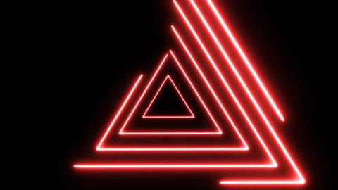 Abstract background, looped animation, Abstract background with neon lights triangles.Neon lights grid square loop background. Abstract triangle neon lights geometric shapes and lines.