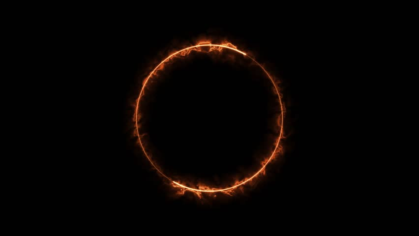 3d abstract ring of fire or plasma particle circle. | Shutterstock HD Video #1020848893