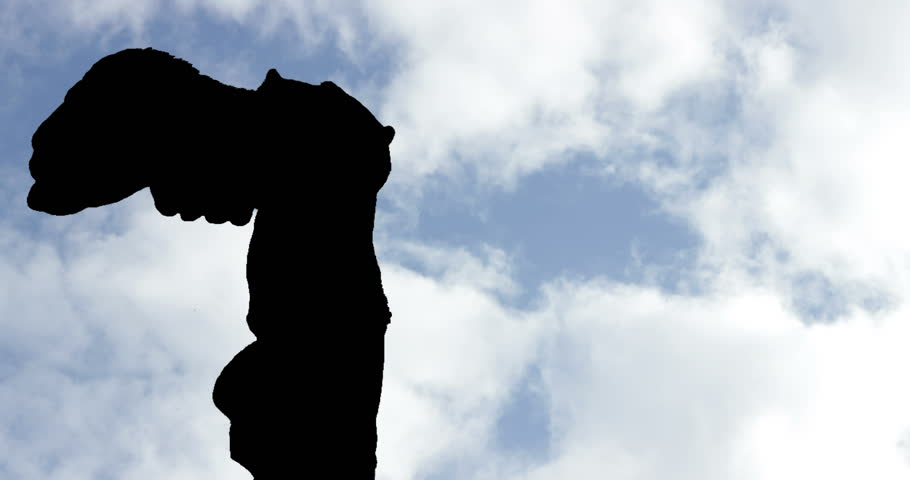 Winged Victory of Samothrace Silhouette day Timelapse | Shutterstock HD Video #1020862303