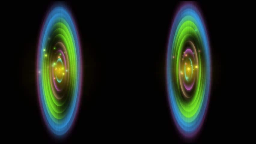 COLORFUL ORBITAL COMMUNICATION  | Shutterstock HD Video #1020871003