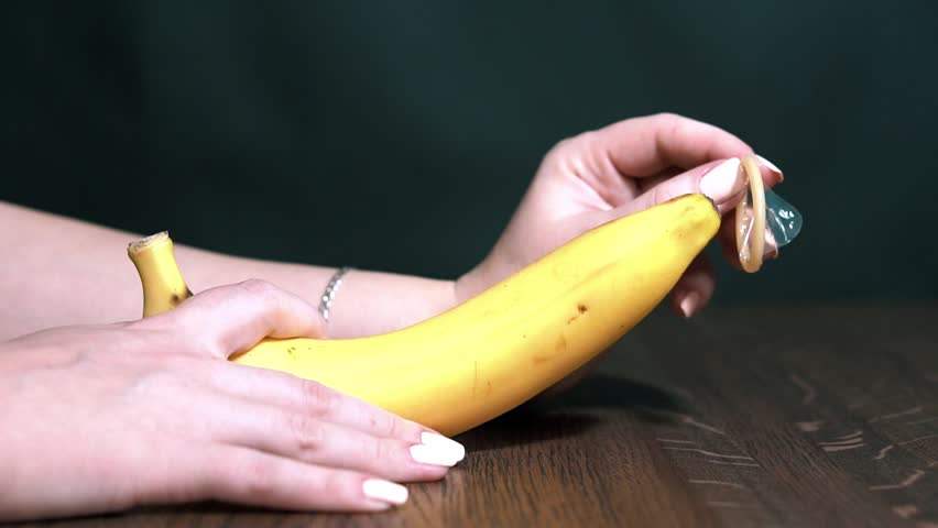 Sexual banana royalty-free stock footage