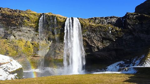 Seljalandsfoss waterfall, Beautiful waterfall in Iceland.