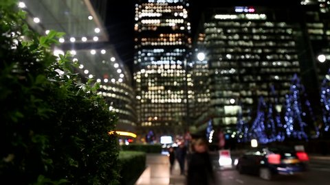 Time lapse of Canary Wharf London