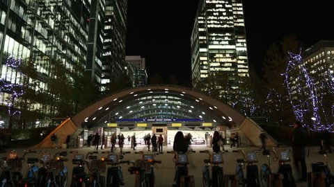Canary wharf time lapse London