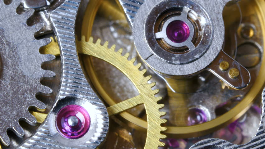 The mechanism of old mechanical wrist watches close-up.   Shutterstock HD Video #1021174303
