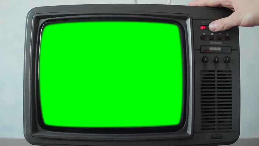 Retro Television with Green Screen, Switching Channels | Shutterstock HD Video #1021217953