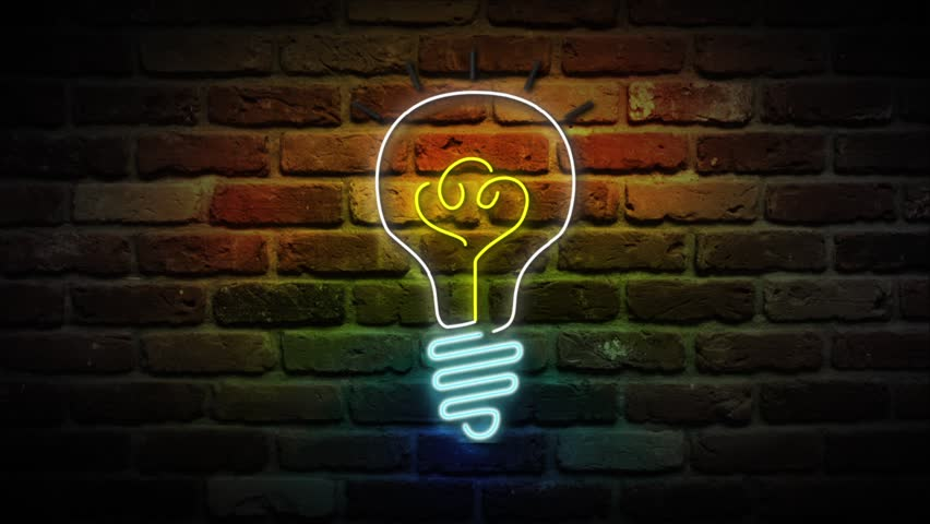Neon Light Bulbs >> Light Bulb Neon Sign Business Stock Footage Video 100 Royalty Free 1021237843 Shutterstock