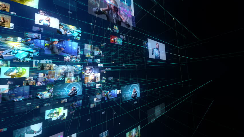 Social networking concept. | Shutterstock HD Video #1021588483