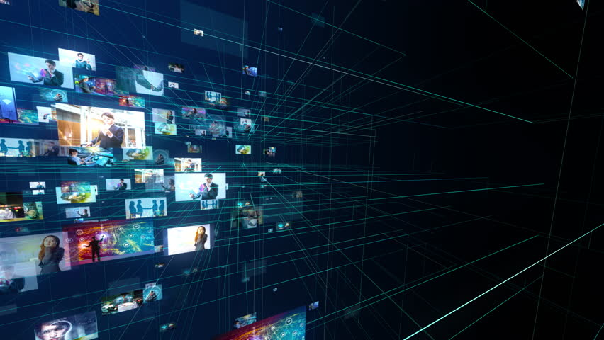 Social networking concept. | Shutterstock HD Video #1021588543