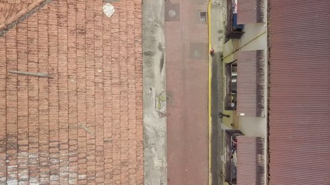 Aerial Drone View of Casco Viejo, the old town of Panama City.