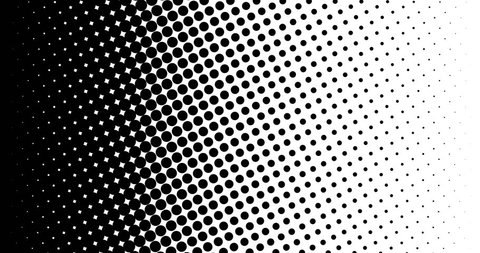 Halftone circle background texture. Black and White. Pop Art.