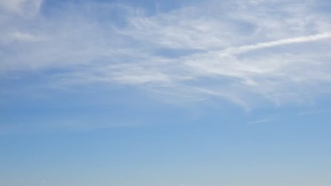 Timelapse Wispy Clouds Moving Backwards With Jet Stream Dissipating