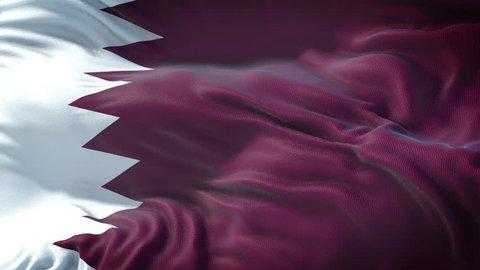 Realistic Flag of Qatar Loop