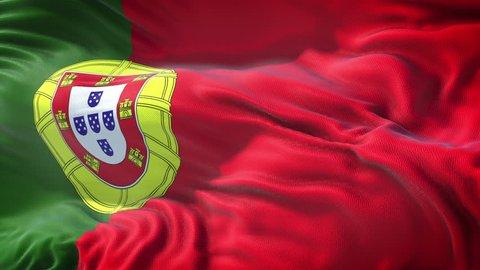 Realistic Flag of Portugal Loop