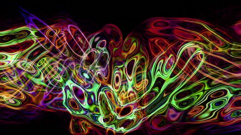 Abstract fluid forms pulse, ripple and flow (Loop).