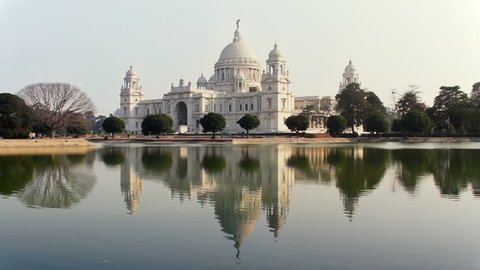 The Victoria Memorial House, In the memory of Queen Victoria. The Beautiful marble building built by Britishers in Kolkata.