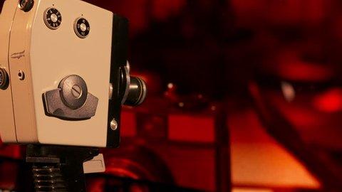 Vintage 8mm Film Camera in Stock Footage Video (100% Royalty