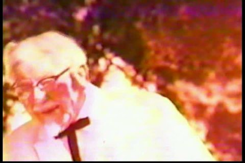 CIRCA 1960s - In this KFC commercial, Colonel Sanders brings fried chicken to a family's picnic.