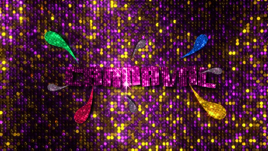 CARNIVAL LETTER OF BRIGHTNESS AND LANTEJOULAS - CARNAVAL  | Shutterstock HD Video #1022228023
