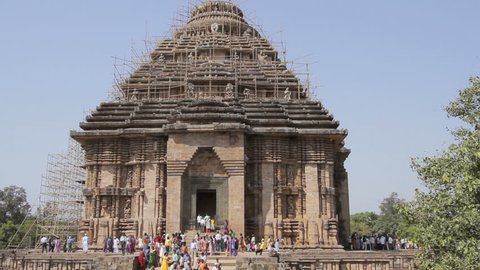 Lockdown shot of The Famous Konark Sun Temple, Built in 13th Century CE Sun Temple at Konark,Puri,Odisha,India.