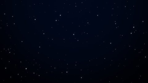 Night starry skies with twinkling or blinking stars motion background. Looping seamless space backdrop