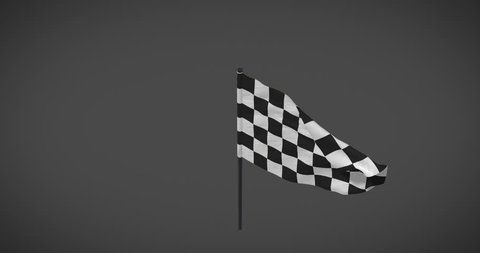 Racing flags - Checker flag looping animation with alpha mask